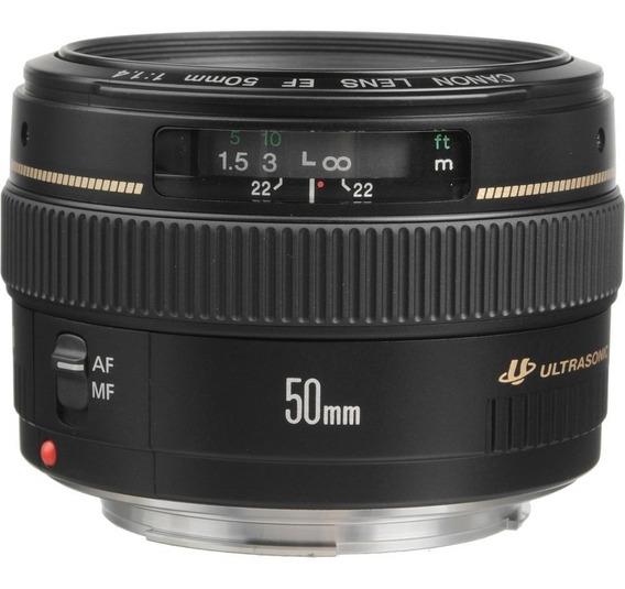 Lente Canon Ef 50mm F/1.4 Usm Sem Juros Frete Grátis