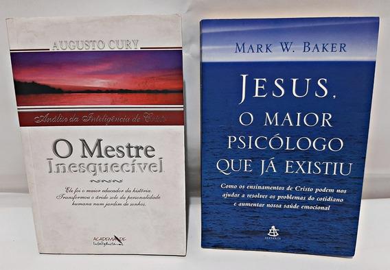 Livro O Mestre Inesquecivel + Jesus O Maior Psicologo Que Ja