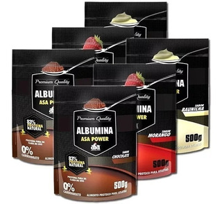 Kit Atacado:6x Albumina 500g Zero Carbo - Asa - 25g Proteina
