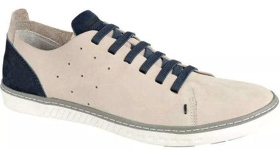 Sapatênis Sapato Casual Bmbrasil Couro Palmilha Gel-confort