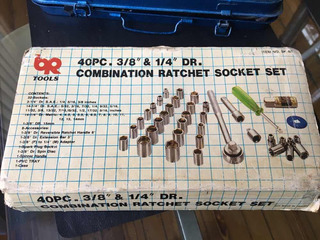 Set De 40pc Tubos Llaves Combination Ratchet Socket Set