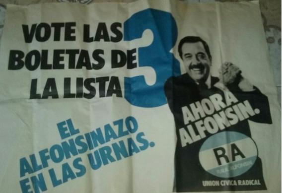 Afiches Antiguo De Campaña Alfonsin 1983 Original