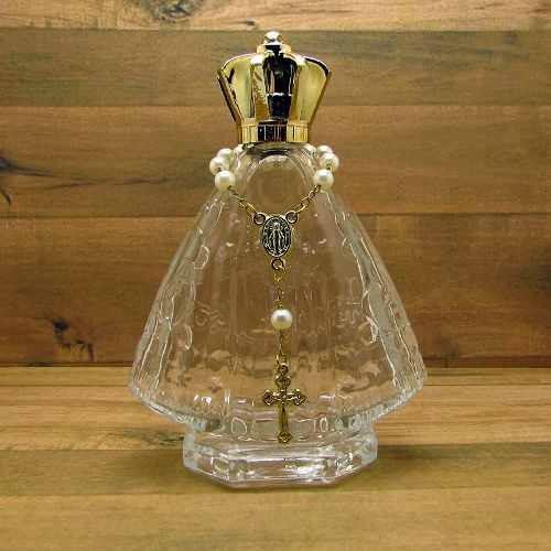 5 Vidros Mini Nossa Senhora Aparecida 60 Ml Terço Dourado