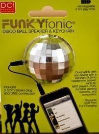Funkyfonic Disco Ball Altavoz Y Llavero Altavoces Dorado