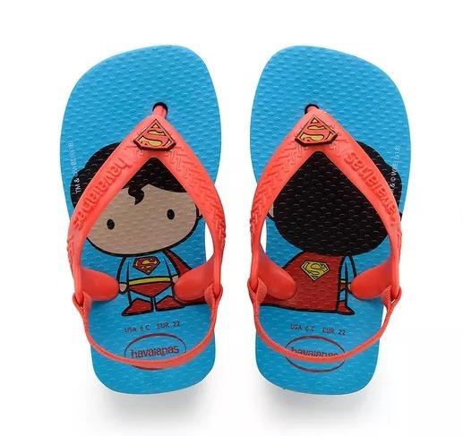 Chinelo Havaianas Baby Herois Super Homem Modelo 20