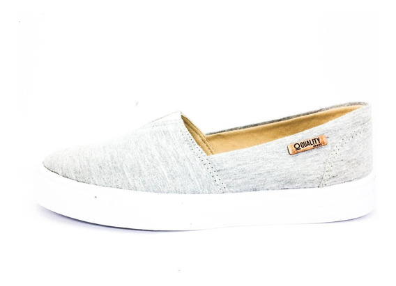 Tênis Slip On Quality Shoes Feminino 002 Mescla