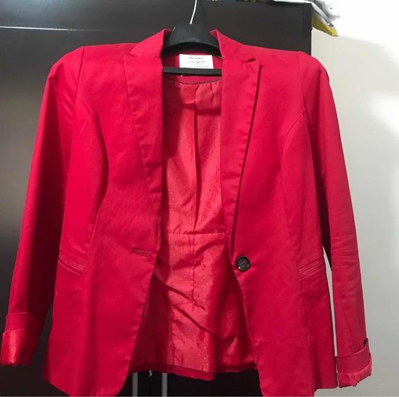 Blazer Rojo Bershka