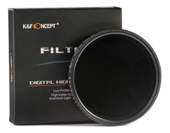 Filtro K&f Concept Densidade Neutra Nd2 - N400, Compatível Com Qualquer Lente Com Boca De 62mm