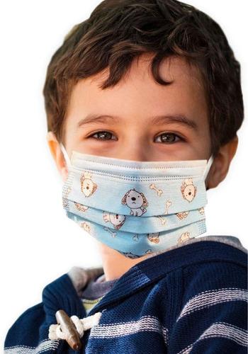 Cubrebocas Infantil Para Niño Niña Tricapa Certificado (10u)