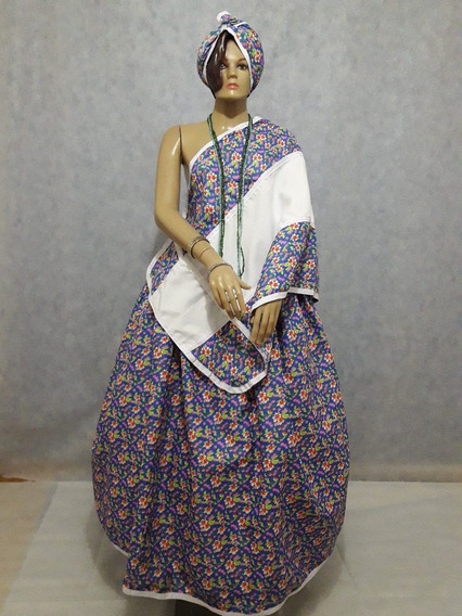 Saia Baiana Roupa Santo/orixá Umbanda/candomblé Preta Velha