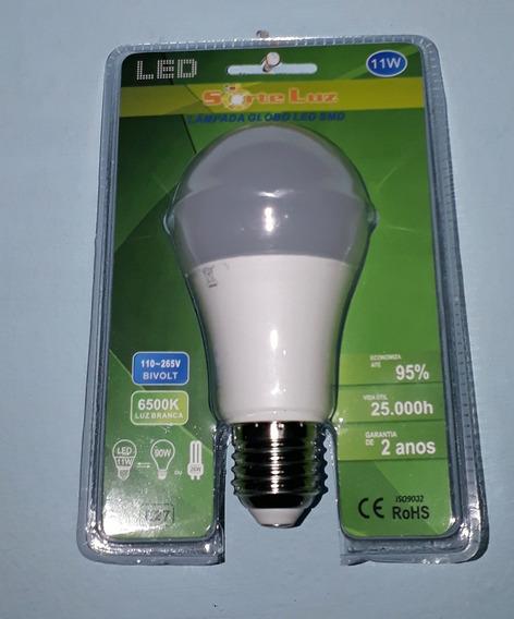 Kit 10 Lampadas Led 11w E27 95%de Economia