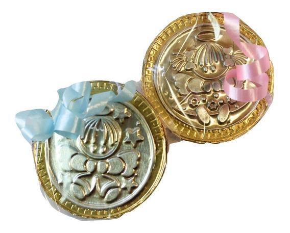 50 Monedas Recuerdo De Bautizo,1ra. Comunion,presentacion