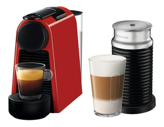 Cafetera Nespresso Essenza Mini Red Pack + Aeroccino