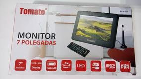 Tv Portátil Led Monitor Tv Digital 7 Pol Micro Sd C/ Antena