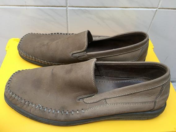 Sapato Masculino Bege, Mocassim, Eurico, 42, Amazonas + Brin