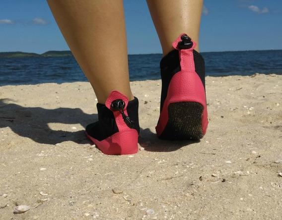 Meia Sapatilha Para Andar Na Areia Da Praia Neoprene
