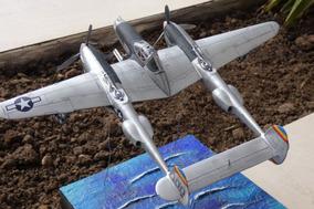 Modelo Escala 1:48 P-38j Usa Avião Segunda Guerra Pintado