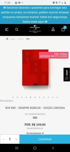 Box Rbd Universal Pré Venda Já Comprado E Garantido.