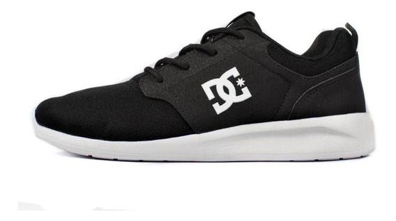 Tênis Dc Shoes Midway Black White Original Unissex