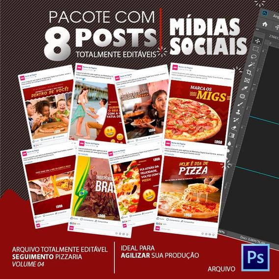 Post Para Redes Sociais Editável - Pizzaria - Vol. 04