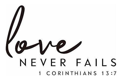 Zssz El Amor Nunca Falla 1 Corintios 13 7 Citas Etiqueta De Mercado Libre