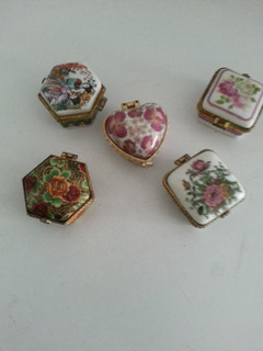 Antiguos Pastilleros De Porcelana