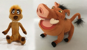 Timão E Pumba Pelúcia O Rei Leão Disney 30cm