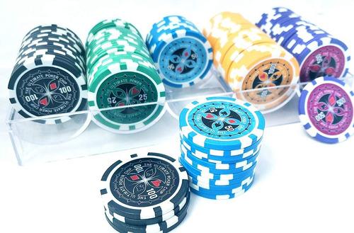 Imagen 1 de 1 de Poker 100 Fichas 11.5 Gr Texas Holdem Casino Black Jack