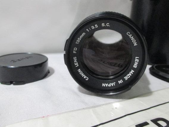 Lente Canon Fd 135mm Camera Fotografica