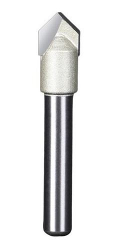 Imagem 1 de 8 de Fresa Gravadora V-bit 90 Graus Haste 6mm Corte 5/16 ( 8mm )