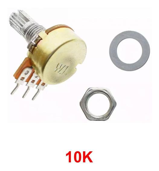Potenciômetro 10k Linear Estriado 15 Mm Wh148 Para Arduino