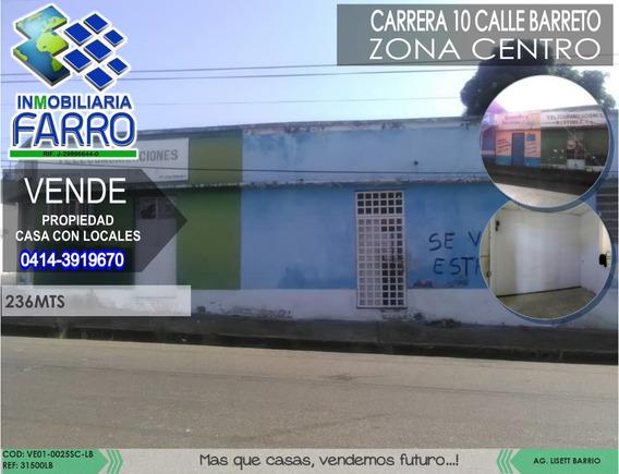 Venta De Casa Con Locales Calle Barreto Ve01-0025sc-lb