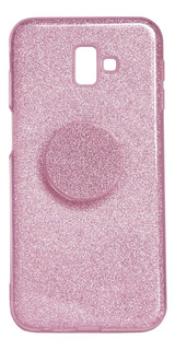 Capa Para Celular Samsung J4 Com Popsocket Rosa Hrebos