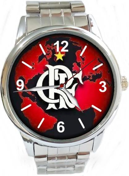 Relógio Pulso Flamengo Masculino Esportivo Barato Promoção