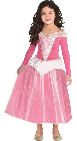 Disfraz De Aurora Para Niñas Vestido La Bella Durmiente
