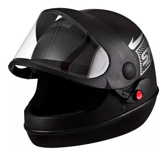 Capacete Moto Pro Tork Sport Moto 58 Preto Fosco