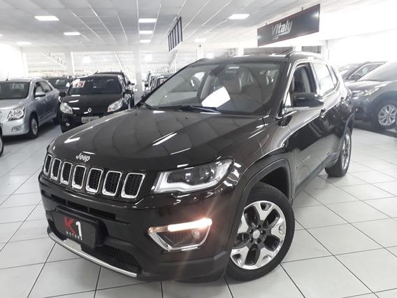 Jeep Compass Limited Flex 2017 Preto Interior Caramelo