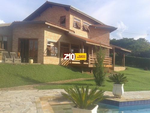 Ch01626 - Colinas Do Mosteiro De Itaici - Belíssima Chácara - At 2.650m² - Ac 180m²,  C/hall De Entrada, 03 Dormitórios Sendo 01 Suíte - Indaiatuba/sp - Ch01626 - 4396236
