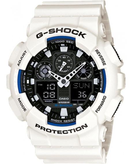 Imperdível Relógio G-shock Branco Ga-100b-7adr