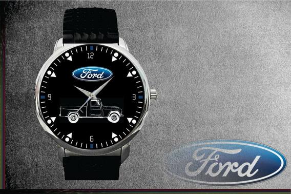 Relógio De Pulso Personalizado Logo Ford F75 Antiga
