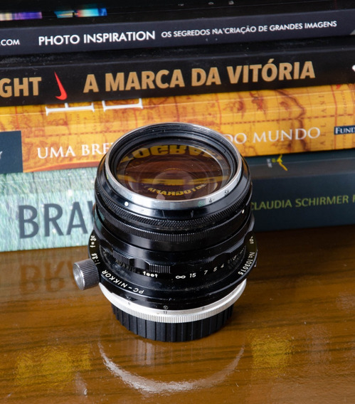 Lente Nikon Pc Nikkor 35mm 3.5 Controle De Perspectiva, Raro
