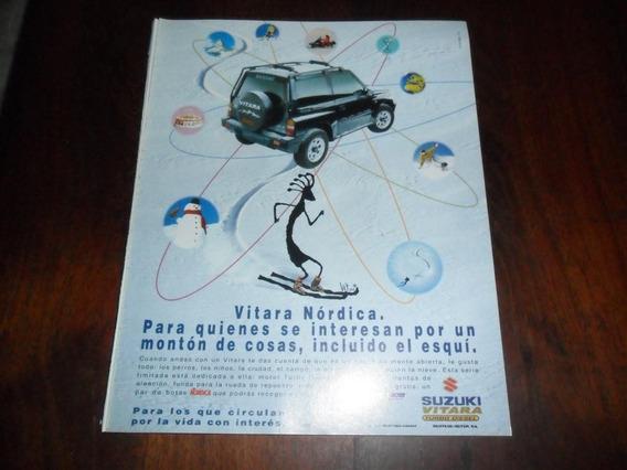 Publicidad 1996 Automovil Suzuki Vitara Turbo Diesel Nordica