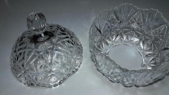 Porta Jóia Le Windersor Cristal Trans. Tre Pé Retrô 10.5 Cmt