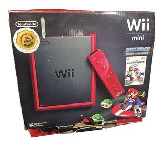 Consola Nintendo Wii Mini Roja Incluye 2 Videojuegos