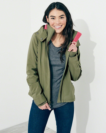 Chompa Hollister Mujer All-weather Fleece-lined Talla: S