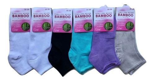 1 Docena Tobilleras Bambu Mujer Sin Costuras