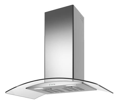 Imagen 1 de 2 de Extractor purificador de cocina TST Lacar ac. inox. y vidrio de pared 500mm x 750mm plateado 220V
