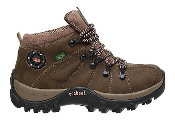 Sapato Tênis Coturno Infantil Confortável Em Couro Forrado