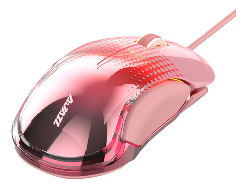 Mouse Para Computador Com Fio Para Jogos Com 8 Botões Rosa