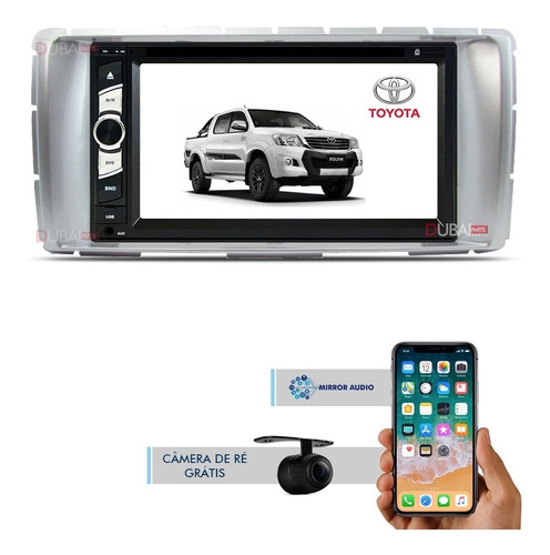 Central Multimídia Dvd Toyota Hilux 2012 2013 2014 2015